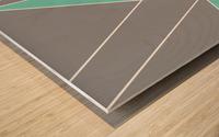 Gray Teal Triangles Geometric Art GAT101-2 Wood print