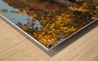 Harpersfield Ohio covered bridge in autumn Wood print