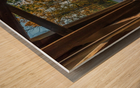 Portal of Mechanicsville covered bridge Ashtabula County Ohio Wood print