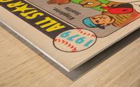 1979 All Star Game Baseball Art Wood print