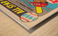 1980 Baseball All Star Game Art Wood print