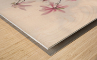Magnolias against sky Wood print