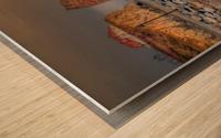 Rocher Perce et son Quai Impression sur bois
