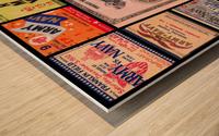 Army Navy Football Ticket Stub Collage Wood print