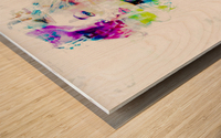 Hey Baby Wood print