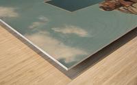 BURNING woMAN II Wood print
