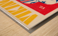 1981 minnesota miami football ticket Wood print