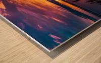 Coucher Soleil Scamandre Wood print