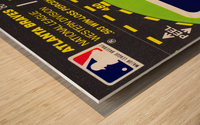 1981 Atlanta Braves Fleer Decal Poster Wood print