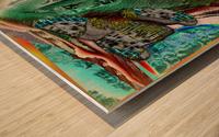 Turbulent Overturn   Sinking of Frigate Evridic Wood print