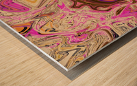 Paint Pour Tan and Pink Wood print