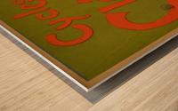 Clement Paris Cycles Wood print