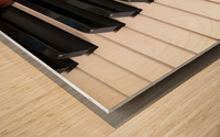 Piano Keys One Octave Plus Wood print