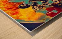creme brulee food art 2 Wood print