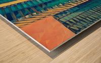 las vegas reflections Wood print