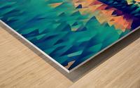 abstract blue sky ocean Wood print