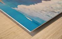 manhattan beach watercolor Wood print