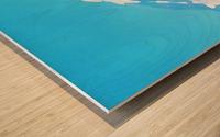mt ranier art blue sky Wood print