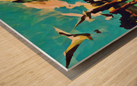 gulls laurence sisson maine art remix Wood print