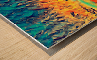 sky wires Wood print