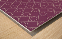 Light Purple Squares And Diamonds Pattern Wood print