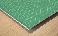 Aquamarine Checkers Pattern Wood print
