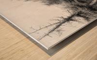 Snake Indians - Fording a River Wood print