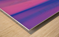 Purple Patterns Wood print