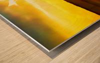 orange yellow Wood print