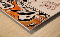 1954 Orioles Score Card Art Wood print