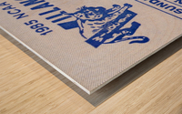 1986 Villanova vs. Connecticut Basketball Ticket Canvas Wood print