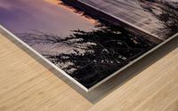A Violet Sunset Wood print