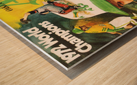 1972 Oakland Athletics World Champions Poster Wood print