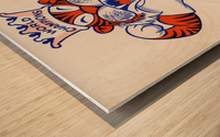 1969 Detroit Tigers Retro Baseball Art Wood print
