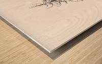 Tree silhouette Wood print