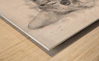Kitten Noir Wood print