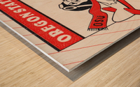 1985 Oregon State Beaver Football Ticket Stub Remix Art Wood print
