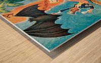 Visit Cupa vintage travel poster Wood print