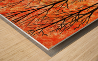 Autumn Forest Abstract  Wood print