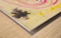 Relationship 1 (Joan Miro tribute) Wood print