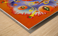 Fioloniceto V2 - digital surrealism Wood print