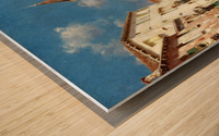 Along Venetian canal Wood print