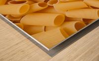 Dry pasta background  Wood print