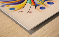 Arubissina V2 - fish eye Wood print