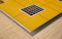 four square Wood print