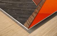 Repeat the orange Wood print