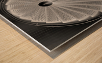 stepscircle Wood print