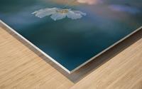 white shadow Wood print