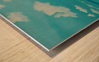 Gone to the beach. Wood print