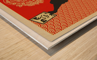 Wage Peace Obey poster Wood print